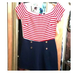 Windsor Sailor Girl/ 4th of July outfit (jumpsuit)